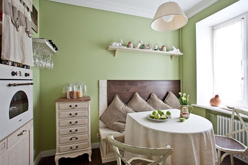 Pistache avec blanc - La combinaison de couleurs à l'intérieur