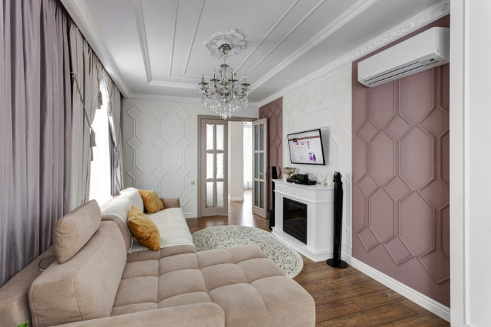 conception de couleur de l'intérieur dans un style néoclassique