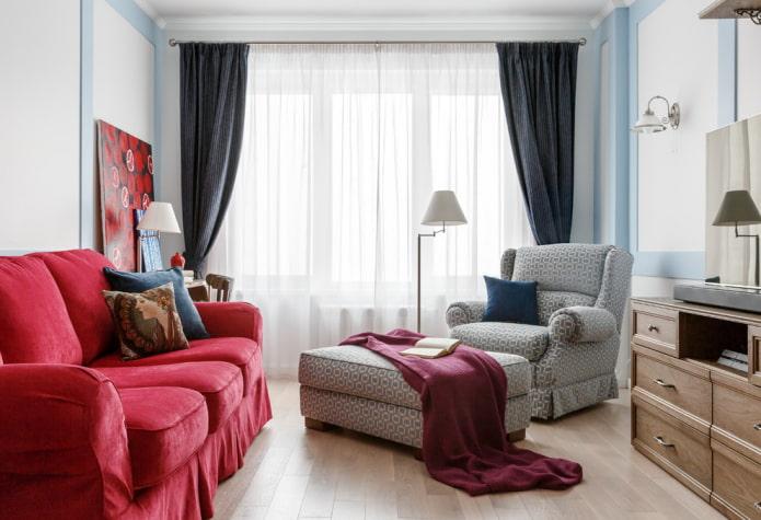 design d'intérieur textile de style néoclassique
