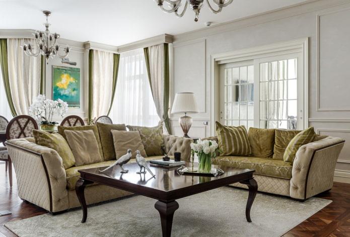 décoration intérieure de style néoclassique