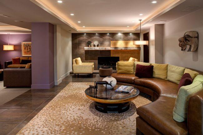 Salon classique aux couleurs pastel
