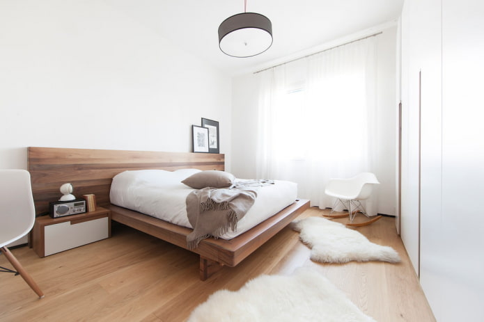 chambre dans le style du minimalisme