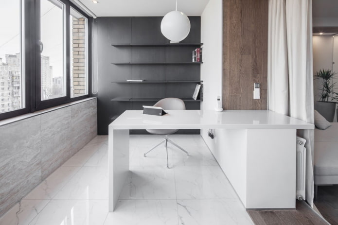 bureau dans l'appartement