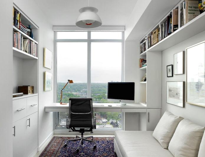 bureau avec fenêtres panoramiques