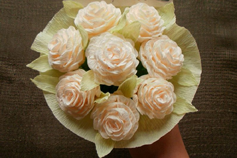 Fleurs en papier bricolage - Roses