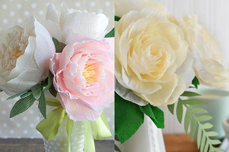 Pivoines - Fleurs en papier bricolage