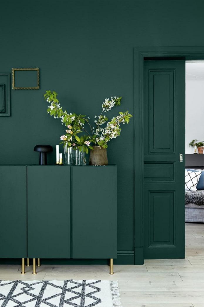 murs de la maison verte