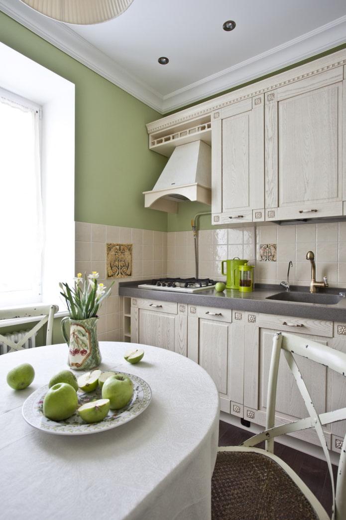 cuisine verte dans un style classique