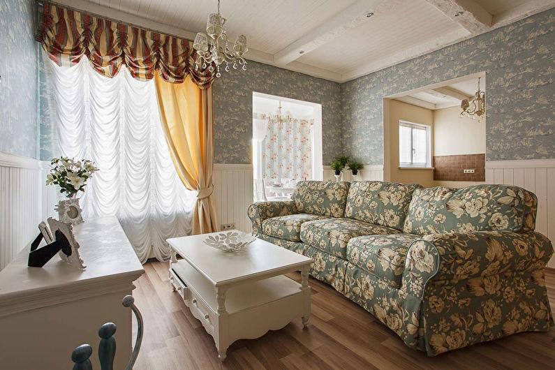 Rideaux de style provençal pour le salon