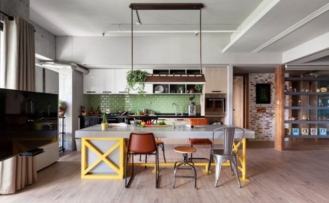 Tuile pour tablier de cuisine d'une teinte verte douce