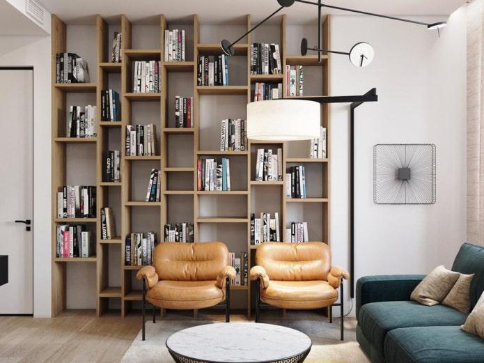 étagères pour livres jusqu'au plafond à l'intérieur