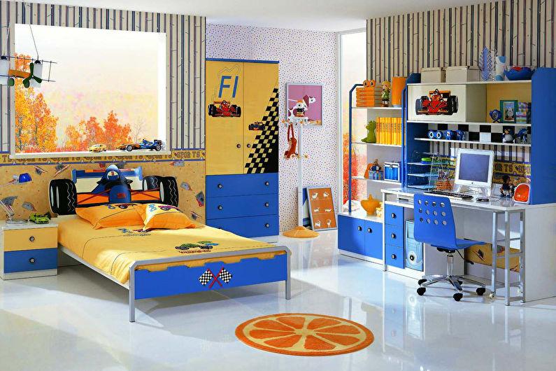 Conception d'une chambre d'enfants pour un garçon dans un style moderne