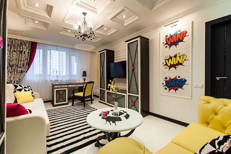 Conception de chambre de bébé de style pop art pour un garçon