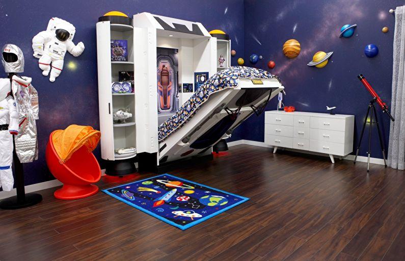 Conception d'une chambre d'enfants pour un garçon dans un style d'espace