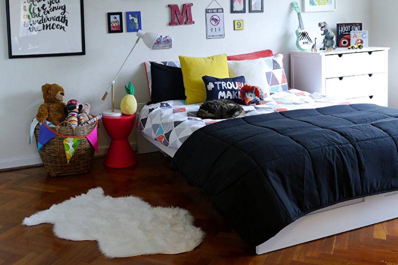 Conception de la chambre des enfants pour un garçon de 3 à 5 ans