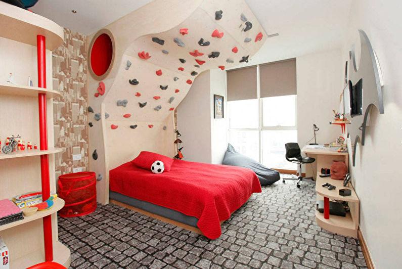 Intérieur d'une chambre d'enfants pour un écolier