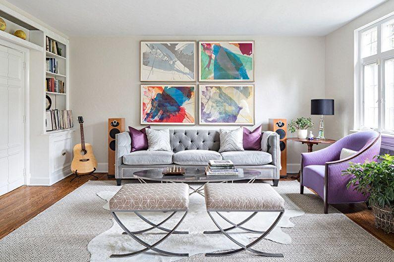 Conception du hall de l'appartement - Solutions de couleur
