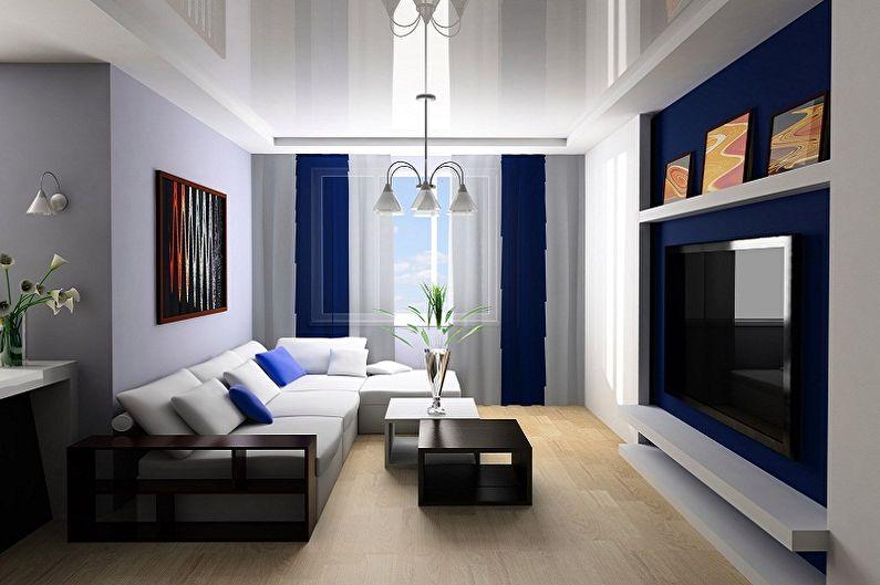 Conception du hall de l'appartement - Matériaux de finition