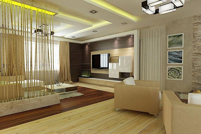 Conception du hall de l'appartement - Zonage