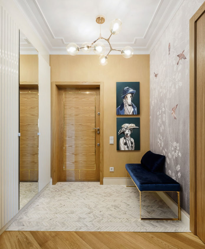 couloir dans le style du minimalisme