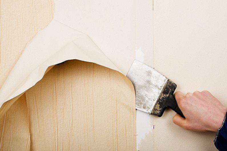 Collage de papier peint bricolage, instructions étape par étape - Préparation de la pièce