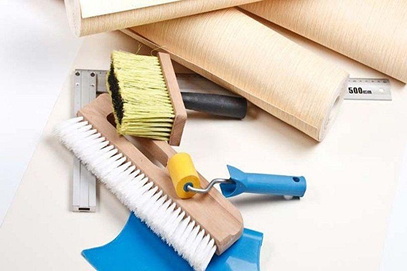 Papier peint bricolage, instructions étape par étape - Préparation des outils et des matériaux