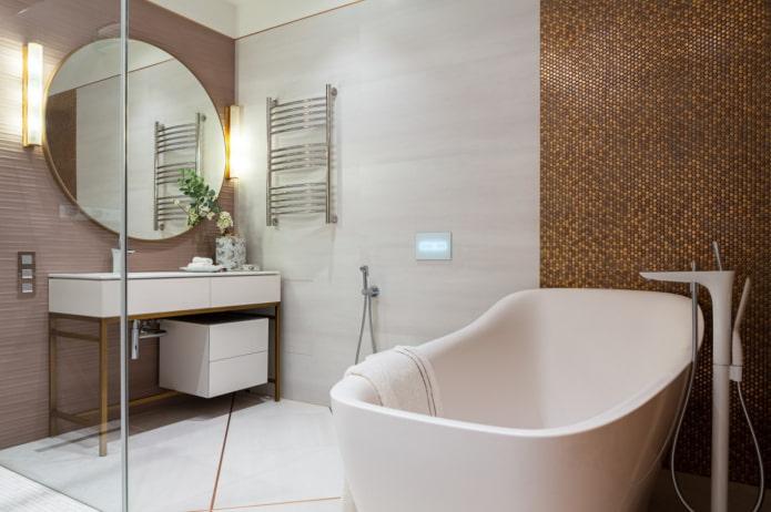 robinets de salle de bain blancs