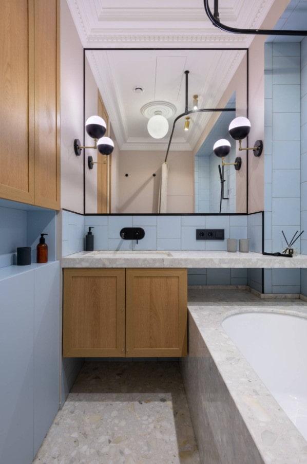 teintes pastel pour la salle de bain