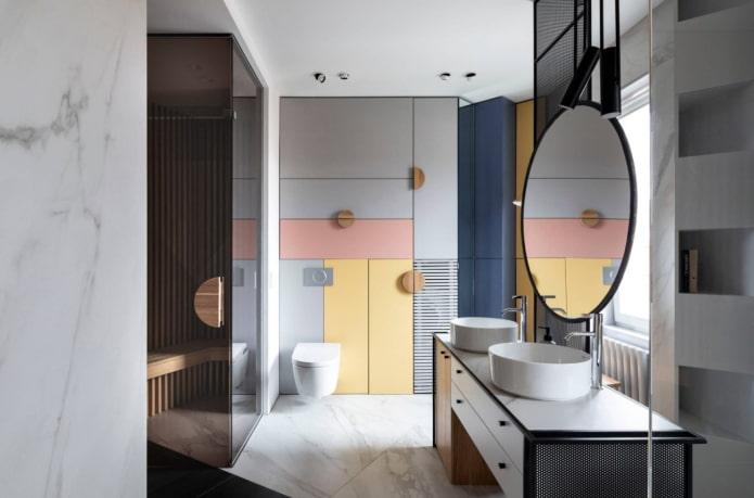 meubles à couleurs contrastantes
