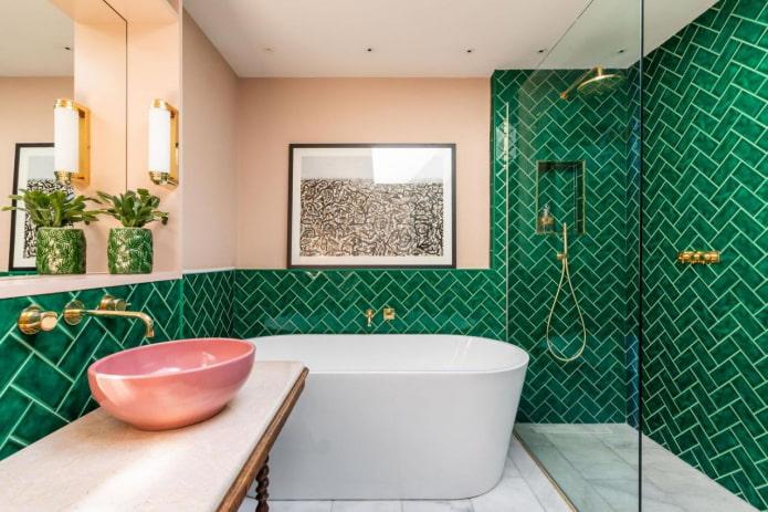lavabo, baignoire et douche