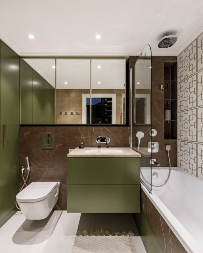 salle de bain olive