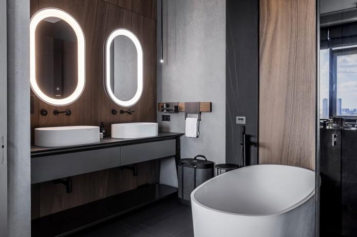 salle de bain de style japandi