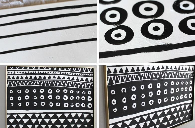 Peintures DIY pour l'intérieur - Abstraction
