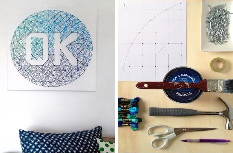 Peintures d'intérieur DIY - String Art