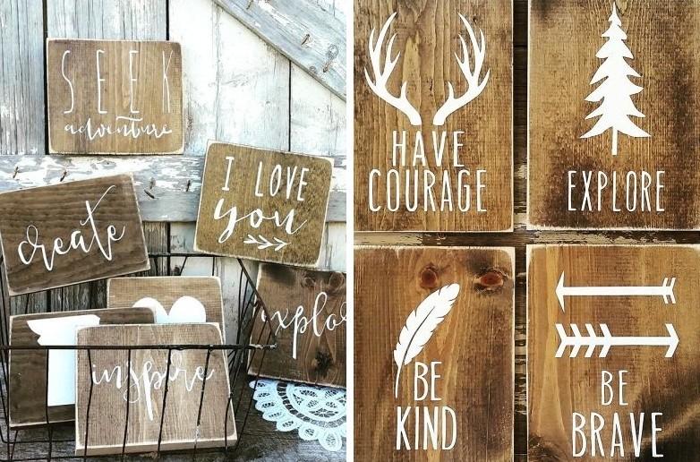 Peintures DIY pour l'intérieur - Peintures en bois