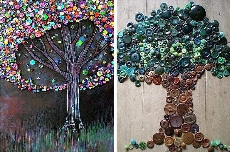 Peintures de boutons - Peintures d'intérieur bricolage