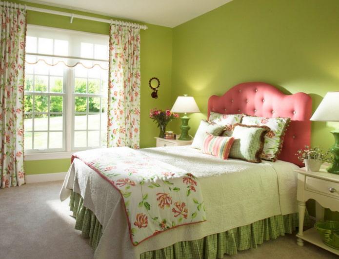 couleur pistache dans la chambre