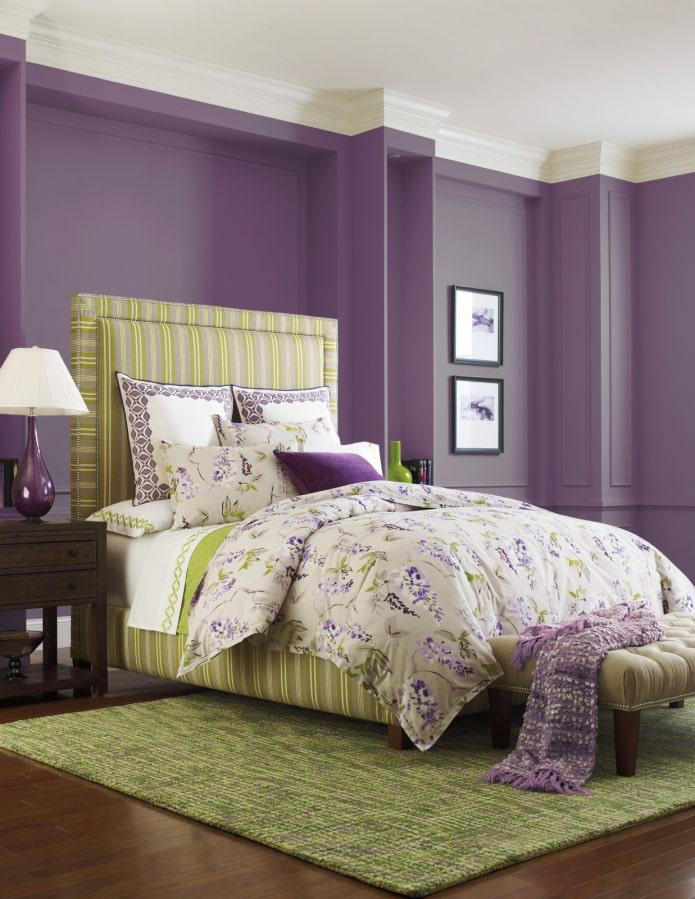 combinaison de vert et de violet