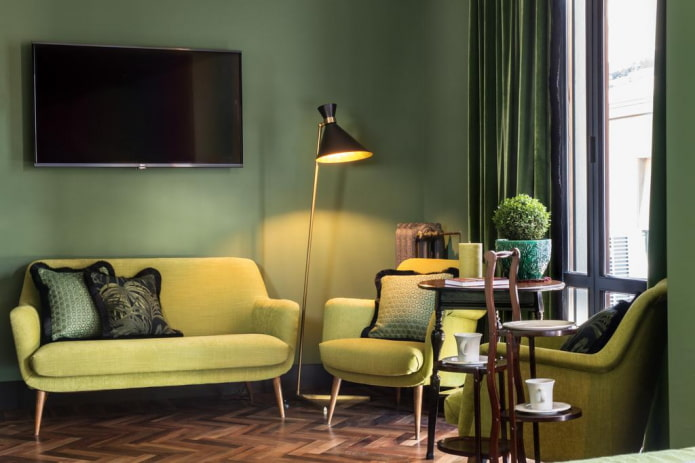 ensemble de meubles colorés