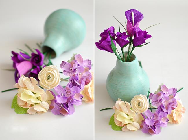 Les fleurs en papier ondulé de haute qualité sont presque impossibles à distinguer des vraies