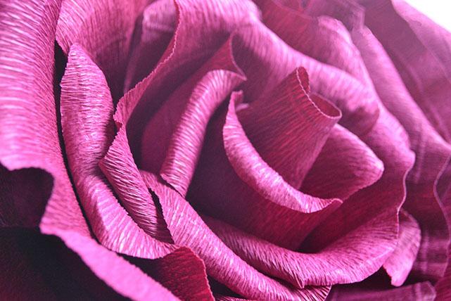 Les fleurs en papier habilement conçues ressemblent à la vraie chose