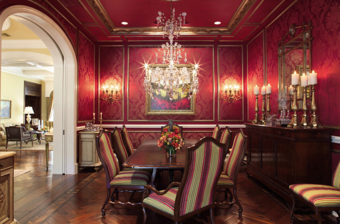 salle à manger de style classique