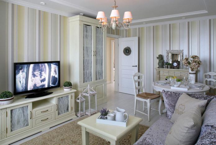 salon dans le style provençal