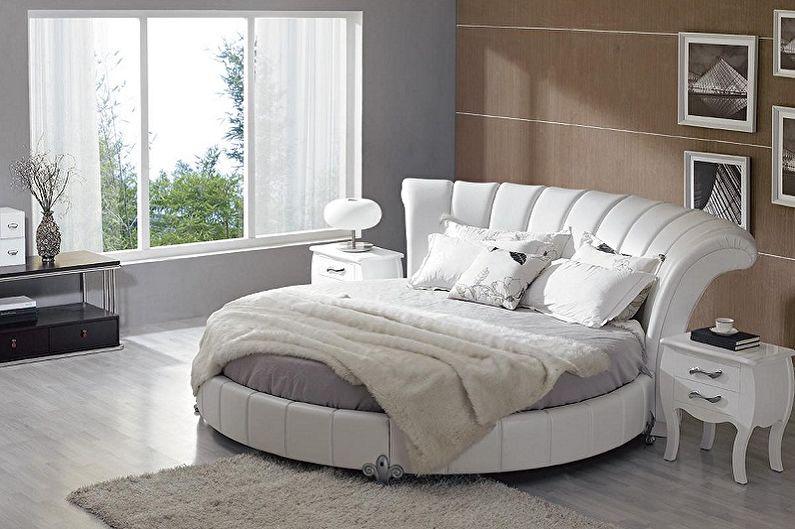 Lit rond avec tête de lit souple