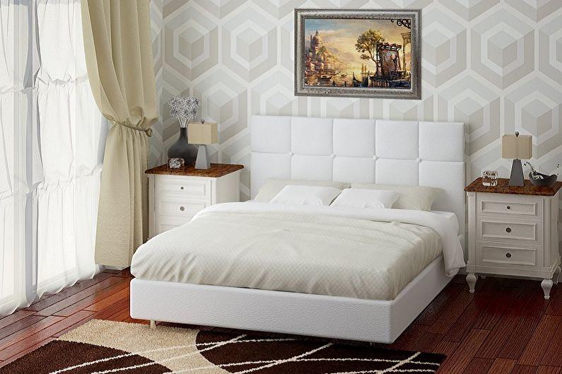 Lit avec tête de lit souple - Caractéristiques principales