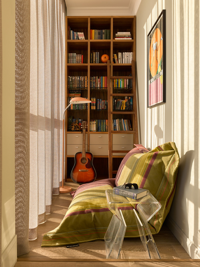 Mini bibliothèque sur le balcon