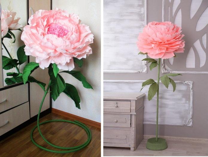 Fleurs sur supports