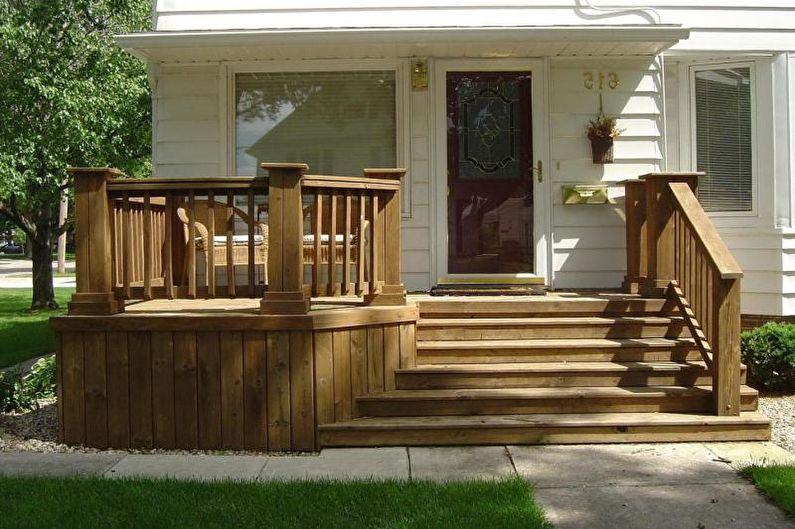 Faire un porche en bois pour une maison privée - photo