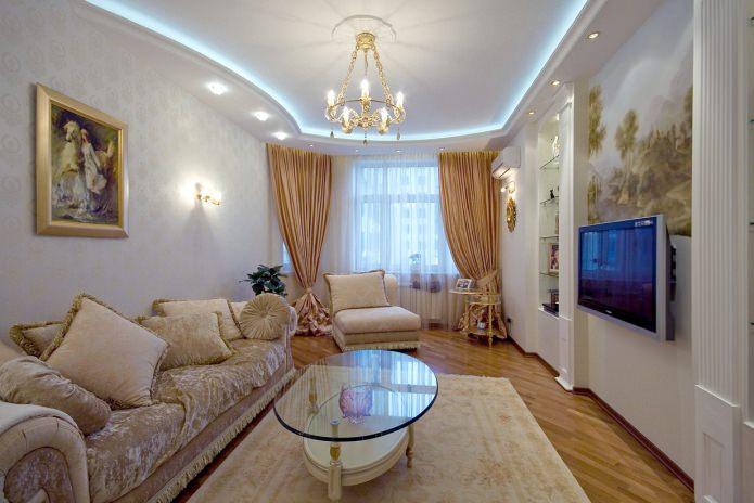 Rideaux de style classique pour le salon