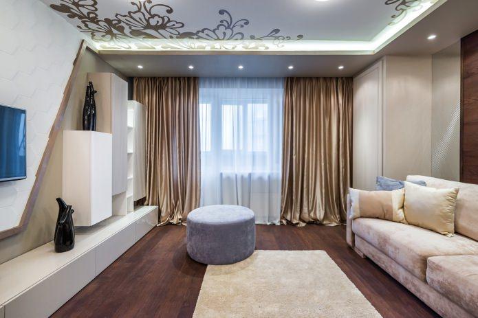 rideaux de style moderne pour le salon